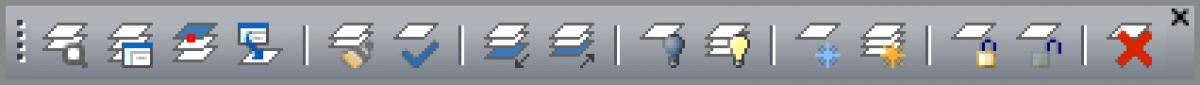 IntelliCAD - Barra de herramientas de capas