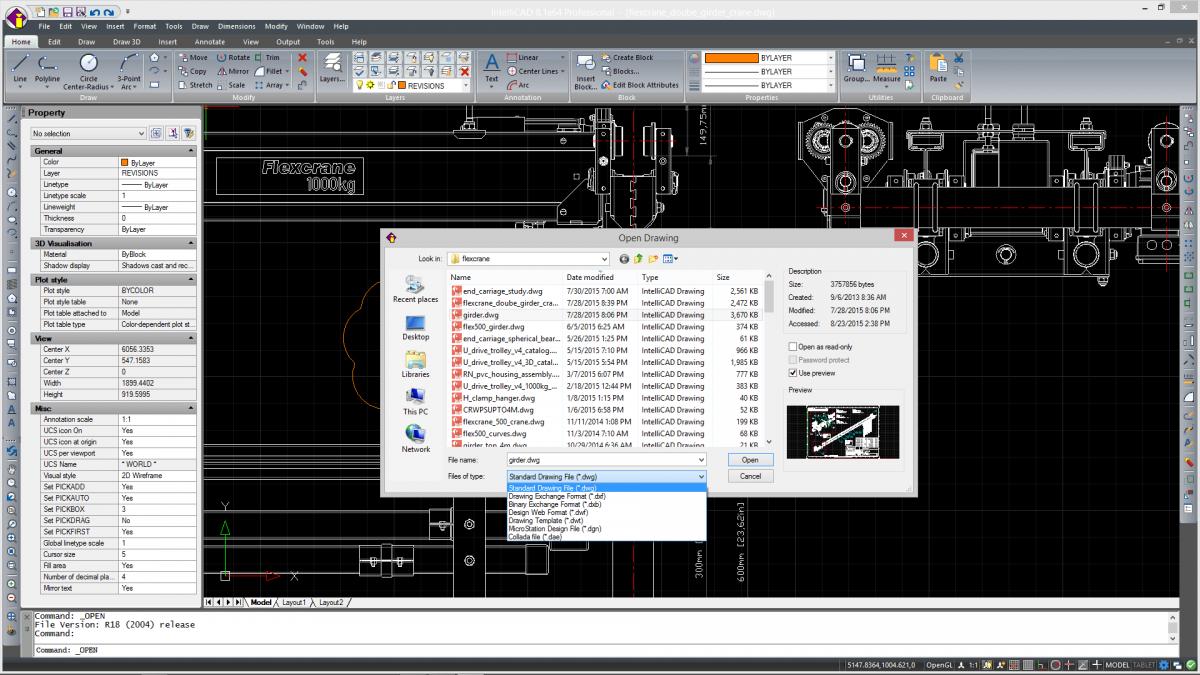 IntelliCAD - soporte nativo a archivos <span>*.dwg</span>
