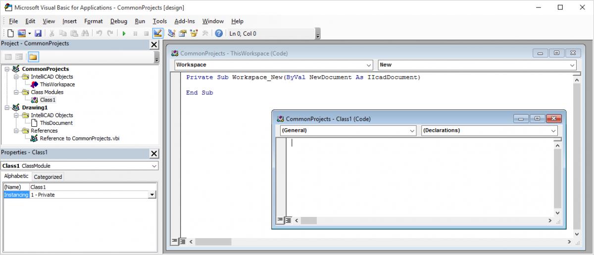 IntelliCAD VBA Ambiente de programación
